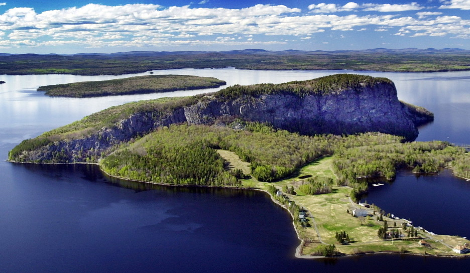 Mount Kineo, in the center of Moosehead Lake near Rockwood, is among the properties that have been preserved through the Land For Maine's Future program.