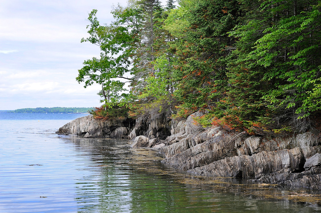 Ledges and rock outcropping line the shores of Clapboard East Preserve on Clapboard Island in Falmouth recently purchased for use by the public with money raised by Land for Maine's Future Program, Falmouth Land Trust and Maine Coast Heritage Trust.