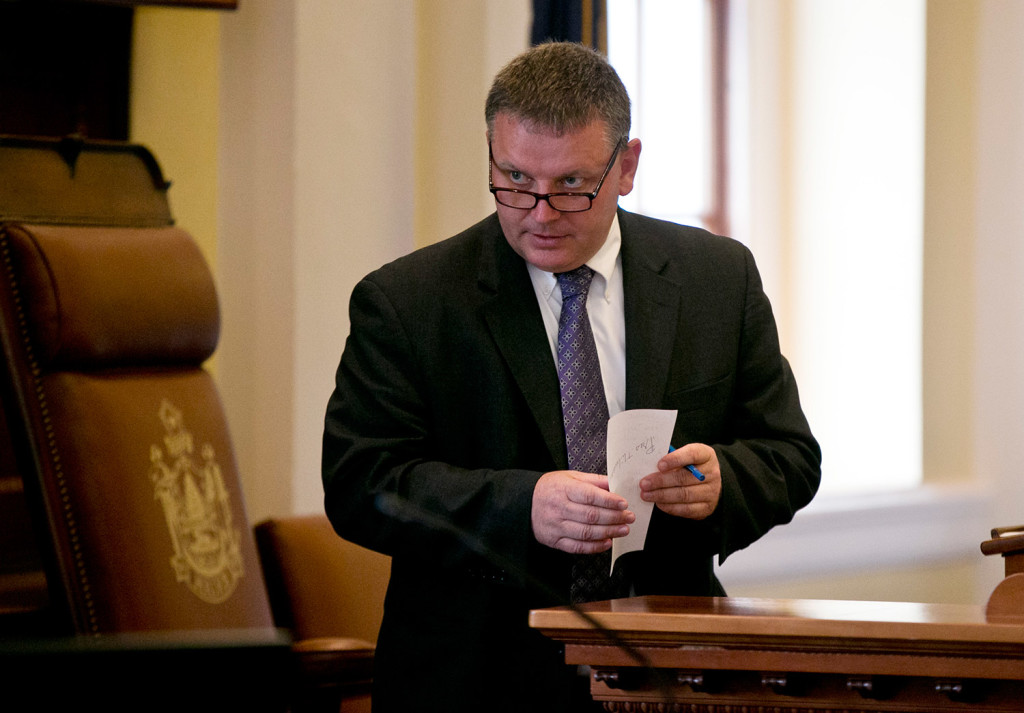 """Maine Senate President Michael Thibodeau, R-Winterport, issued a written statement Friday saying, """"The governor's comments in Bridgton were inappropriate. Furthermore, they detract from the focus we should have in combating the drug crisis here in Maine."""""""