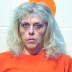 Toni Bulley, 48, was arrested on June 17 and charged with trafficking in methamphetamine. Aroostook County Jail photo