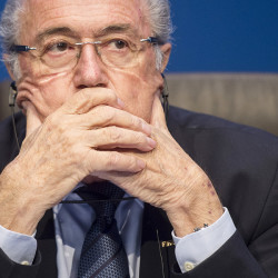 FIFA President Sepp Blatter appears at  a news  conference following the FIFA Executive Committee meeting in Zurich, Switzerland, on Saturday. The Associated Press