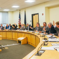 The Legislature's Government Oversight Committee unanimously votes to initiate an inquiry into Gov. Paul LePage's threat to withhold state funding from Good Will-Hinckley, at a meeting in Augusta on Wednesday.