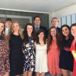 Maranacook Community High School's top 10 students for the class of 2015 have been announced. In front, from left, are Christine Miller, Sydney Green, Elizabeth D'Angelo (salutatorian), Natalie Wicks (valedictorian), Amber Ridlon, Annie Nielsen and Abigail Westberry. In back, from left, are Ethan Harriman, Eric Schessler and Benjamin McLaughlin.