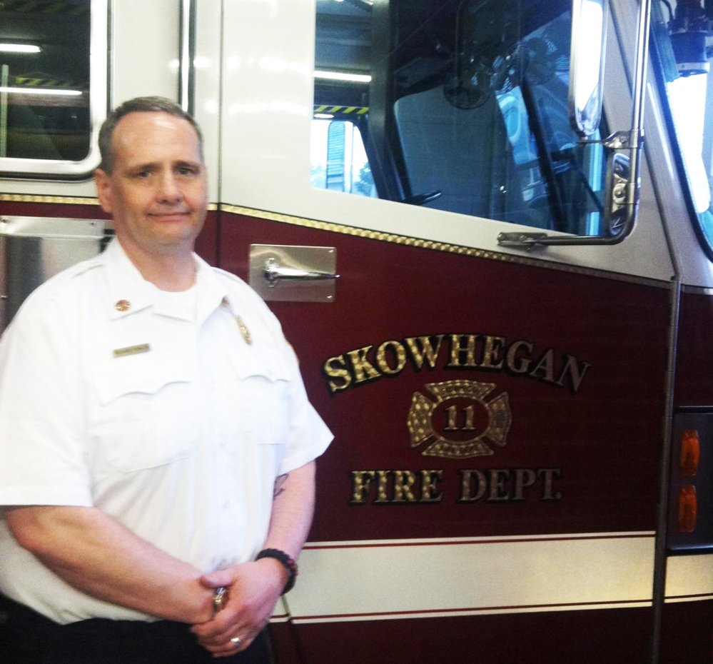 Staff file photo Former Skowhegan fire chief Richard Fowler, shown in 2014, was sentenced to three to six years in New Hampshire State prison and ordered to pay more than $200,000 in restitution to the Farmington, N.H., fire department, where he worked before coming to Skowhegan in May 2014. He was fired by the Skowhegan department in August 2014.