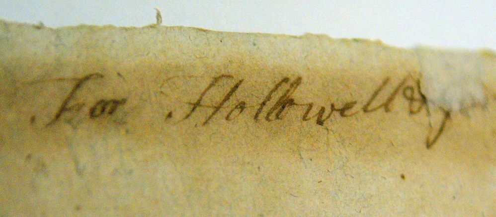 This handwritten note mentioning Hallowell is seen on the back of a 1776 copy of the Declaration of Independence on April 16 in the Maine State Museum in Augusta. The historic document is on display during the Independence Day holiday in Hallowell City Hall.