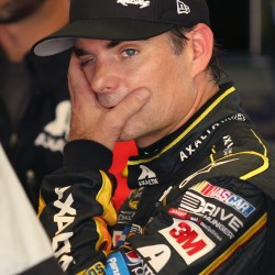 Jeff Gordon will start 24th in today's NASCAR Sprint Cup race after rain washed out qualifying on Saturday in Daytona Beach, Fla.