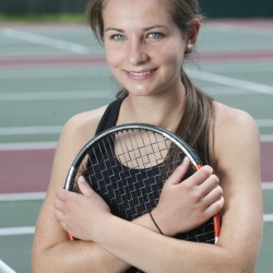 Hall-Dale's Clio Barr is the Kennebec Journal Girls Tennis Player of the Year.