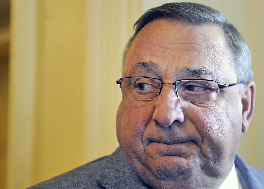 """Gov. Paul LePage said Wednesday that he has already vetoed several bills that were approved by the Legislature.  """"I understand the Constitution,"""" he said outside his office at noon. """"And I'm French."""""""