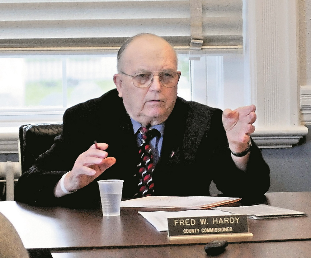 Franklin County Commissioners Fred Hardy, seen during a meeting on Sept. 25, 2013, died on July 4. He was 85.