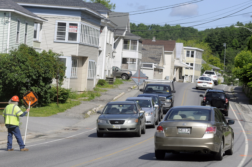 Utility work snarls traffic in late June on Mount Vernon Avenue in Augusta, where a major road construction project is scheduled to begin on Monday.