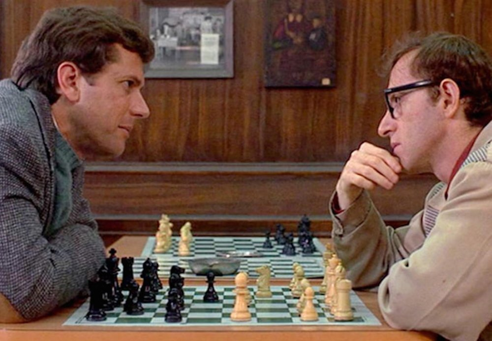 "Michael Murphy, left, and Woody Allen in ""The Front."""