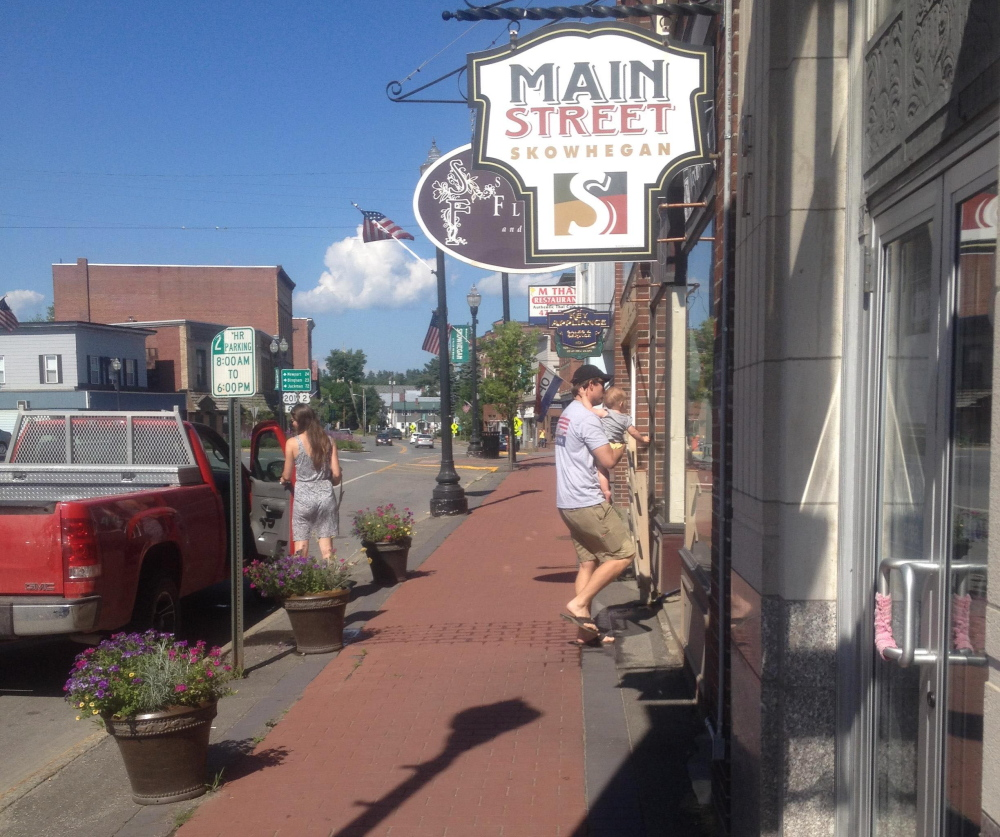 Main Street Skowhegan, seen here Monday, along with Skowhegan Savings Bank and other town business leaders and organizations, is launching an entreprenuer challenge to help new businesses become established downtown.