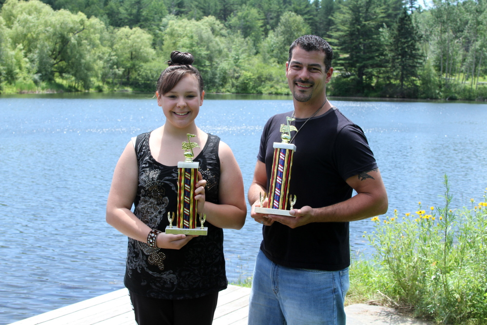 The 2015 Winslow 4th of July Idol Contest winners have been announced. Jocelyn Begin, left, 13, of Fairfield, was named the Under 13 Age Group winner; and Adam Lamson, right, 34, of Waterville, was named the Over 13 Age Group winner.