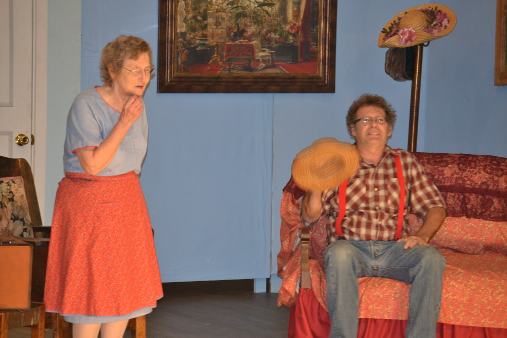 Beverly Smith and Steve Mallen in a Vienna Historical Society play performance.