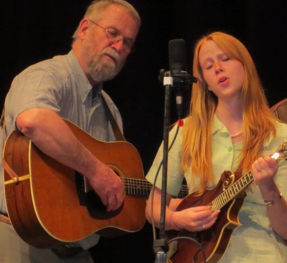 Stan Keach and Julie Churchill of the Maranacook String Band.
