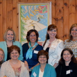 Front, from left, are Debbie Byrne, Elizabeth Barron, Barbara Allen, Alicia MacLeay, Mary Denise Ferguson and Martha Minkel. Back, from left, are Gretchen Roy, Margo Diamond, Kelsie Lee, Shannon Axelson, Amanda Pelletier, Kerry Smart, Helen Bell-Necevski, Danielle Martin, Linda Holmsen and Tracy Farnham.