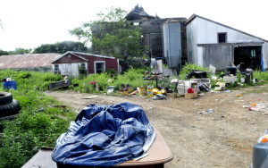 The Mark Gould farm on Drummond Road in Sidney, where state officials seized more than two dozen farm animals Tuesday. Gould has a history of animal-related offenses going back to 2011.