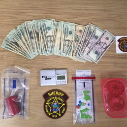Some of the items the Franklin County Sheriff's Department said it seized from Russell Smith and Anthony Smith of Carthage Thursday morning.