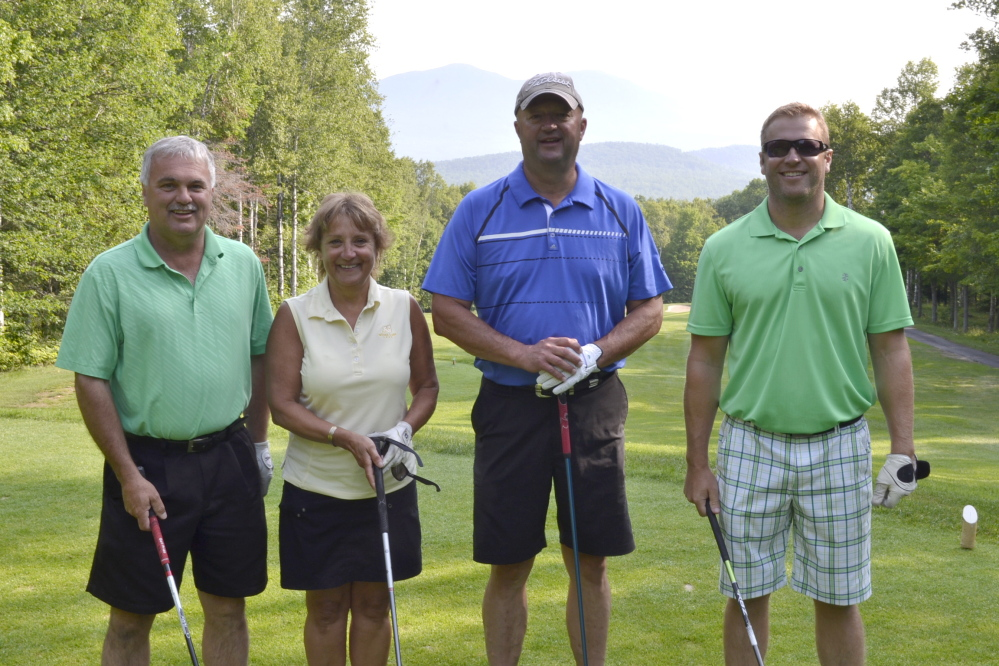 The Franklin Printing team of Dan DiPompo, Ann and Greg Nemi, and Devon Smith took first place gross at the tournament.