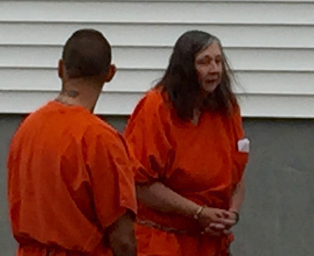 Carol Murphy, seen at Franklin County Superior Court in June, failed to appear in the same court Friday, missing a chance to reclaim animals that had been seized from her New Sharon home in early July. Murphy is barred for life from owning animals after several animal abuse convictions, but was challenging the most recent animal forfeiture.