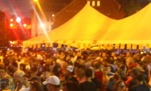 Rustic overtones played to a packed crowd in the Taste of Waterville beer tent in 2013. This year's event is Wednesday.