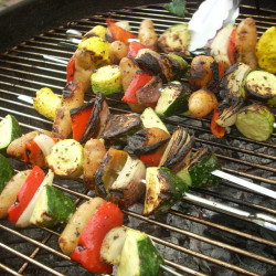 To make your Fourth of July more vegetarian-friendly, upgrade your salads and give vegetables, veggie burgers and tofu more grill space.