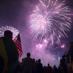 A study found levels of microscopic particles were two times higher than their normal levels on the night of July 4. The EPA says some people should watch fireworks upwind.