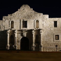 The Alamo is the best known of the San Antonio Missions in Texas that are awarded world heritage status by the U.N.'s cultural body. In 1836 at The Alamo, Texas settlers made a courageous stand before they were defeated by Mexican forces.