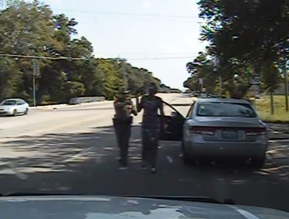 The dashcam video provided by the Texas Department of Public Safety shows trooper Brian Encinia arresting a combative Sandra Bland in Waller County, Texas.