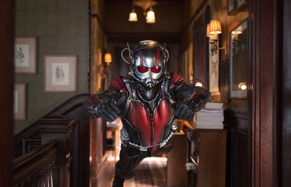 """Paul Rudd portrays Scott Lang/Ant-Man in """"Ant-Man."""" The film brought in $24.8 million over the weekend."""