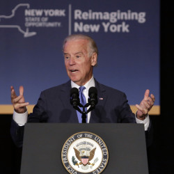 Vice President Joe Biden in New York on Monday talks about the ambitious changes in store for LaGuardia Airport. A modern, unified hub is planned.