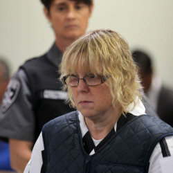 Joyce Mitchell, shown in court in June, pleaded guilty to smuggling hacksaw blades in frozen hamburger meat to two killers who later broke out and spent more than two weeks on the run.