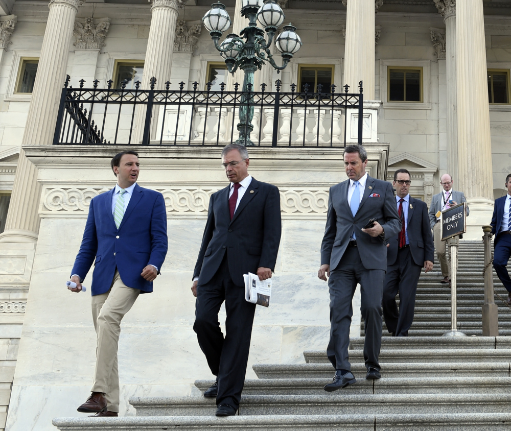 House members embark on their August recess Wednesday after shoring up federal highway aid and veterans health care, but leaving other matters unresolved.