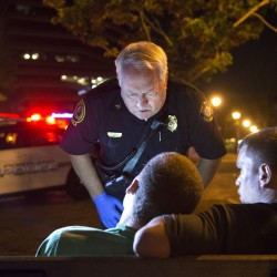 "Portland Deputy Fire Chief Terry Walsh responds to a possible heroin overdose by an 18-year-old male.  Over the years, calls of overdoses and related ""cardiac arrest"" calls have increased and become routine in the city.  Washington Post photo by Linda Davidson"