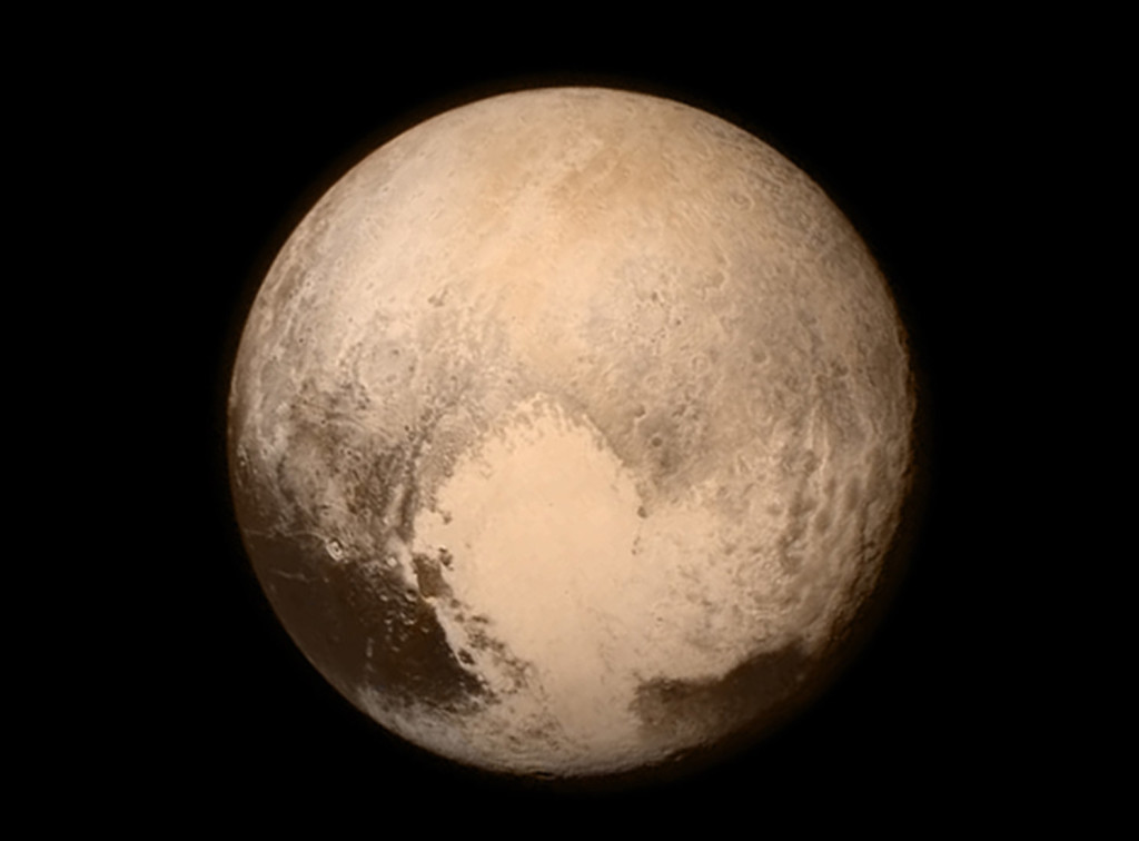 This image provided by NASA shows Pluto from the New Horizons spacecraft. The Associated Press