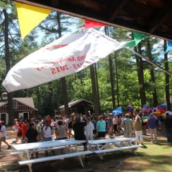 The YMCA Camp of Maine celebrated its 100th anniversary on Saturday in Winthrop with a parade and other festivities.