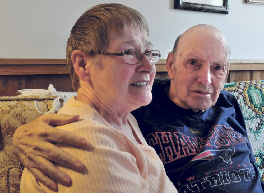 Dottie and David Shorey speak about the hospice care David receives at their home in Palermo recently. Hospice Volunteers of Waterville Area are in need of trained direct care volunteers.