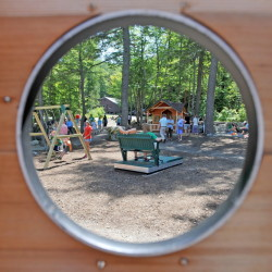A new handicapped-accessible playground opened on Tuesday at Pine Tree Camp in Rome.