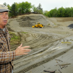 Ernie Rice, chairman of the Belgrade Board of Selectpersons, Ernie Rice stands on May 19 on the proposed site of a new Town Office. The site is on Route 27 and is now a sand pit.