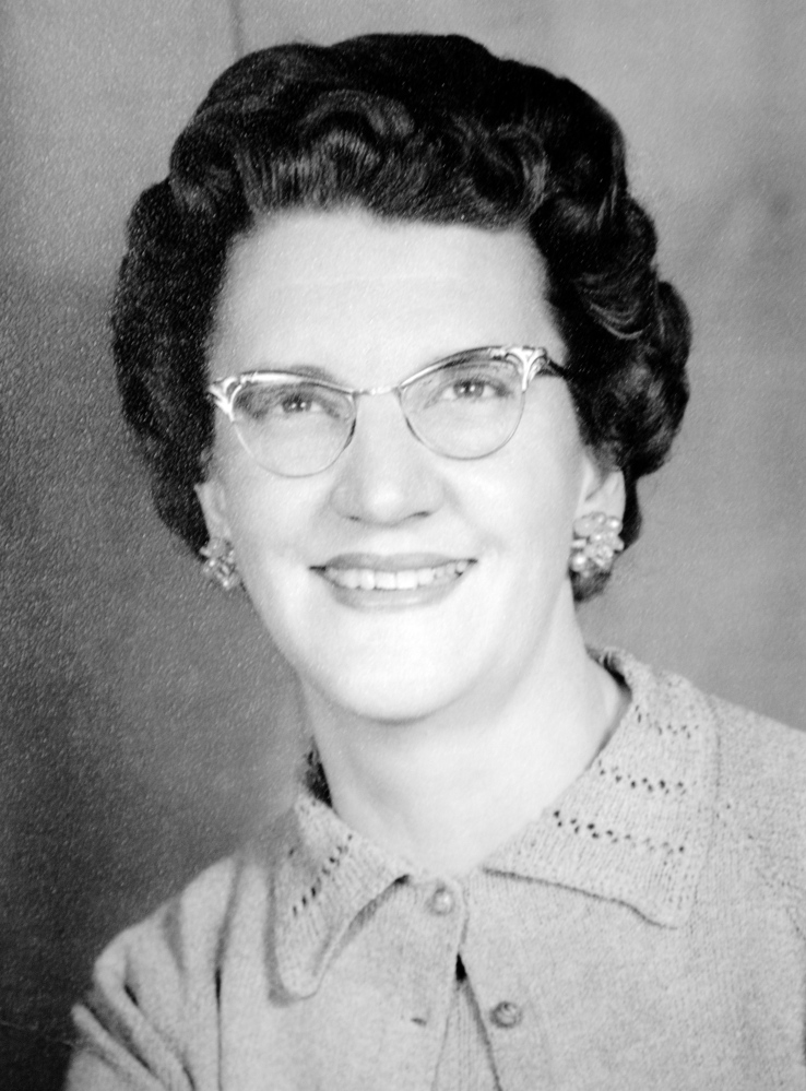 A campaign photo of Esther Shaw from 1959 or 1960. Shaw served in the Legislature more than 50 years ago.