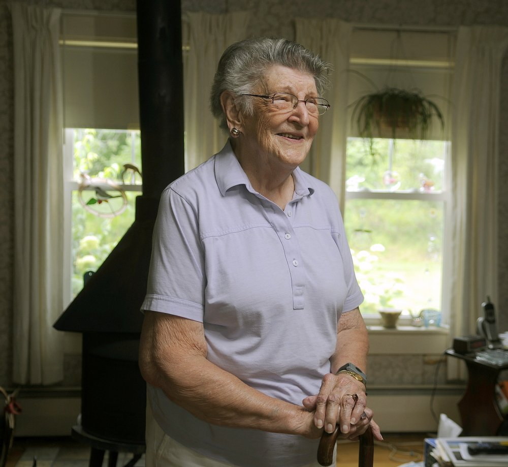 Esther Shaw at her farmhouse in Chelsea last week. Shaw served in the Legislature more than 50 years ago.