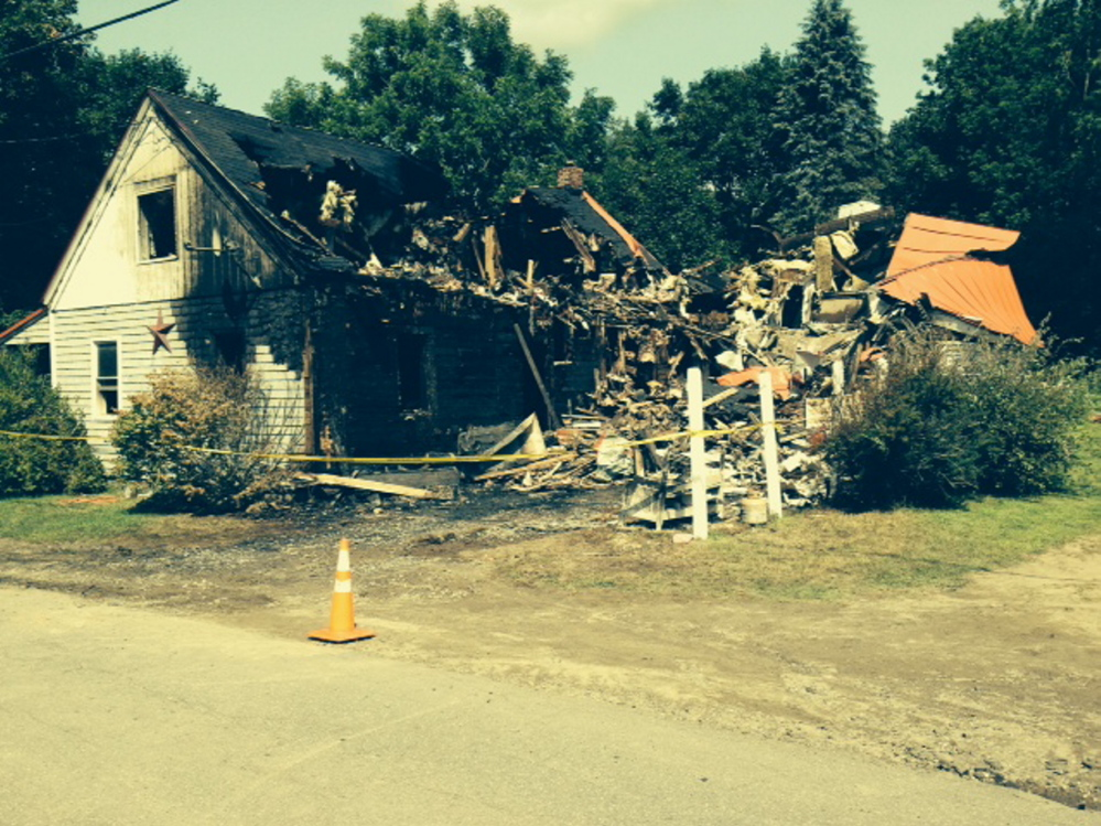 A home on North Palermo Road in Palermo is seen Saturday after a fire destroyed the building Friday night.