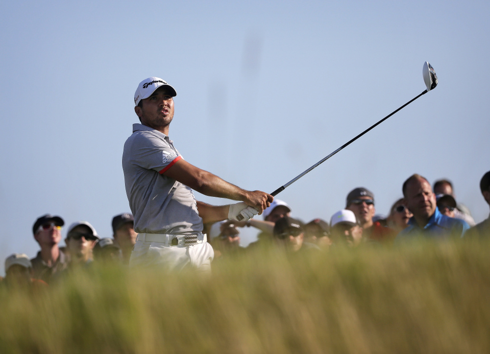 Jason Day watches his drive on the 11th hole during the third round of the PGA Championship on Saturday at Whistling Straits in Haven, Wis.