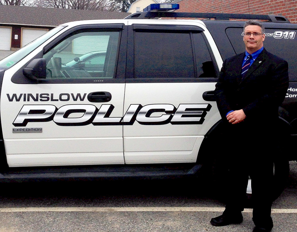 Winslow Police Chief Shawn O'Leary, seen last year, says he hopes a tongue-in-cheek appeal to drug dealers to turn in the competition may have results.