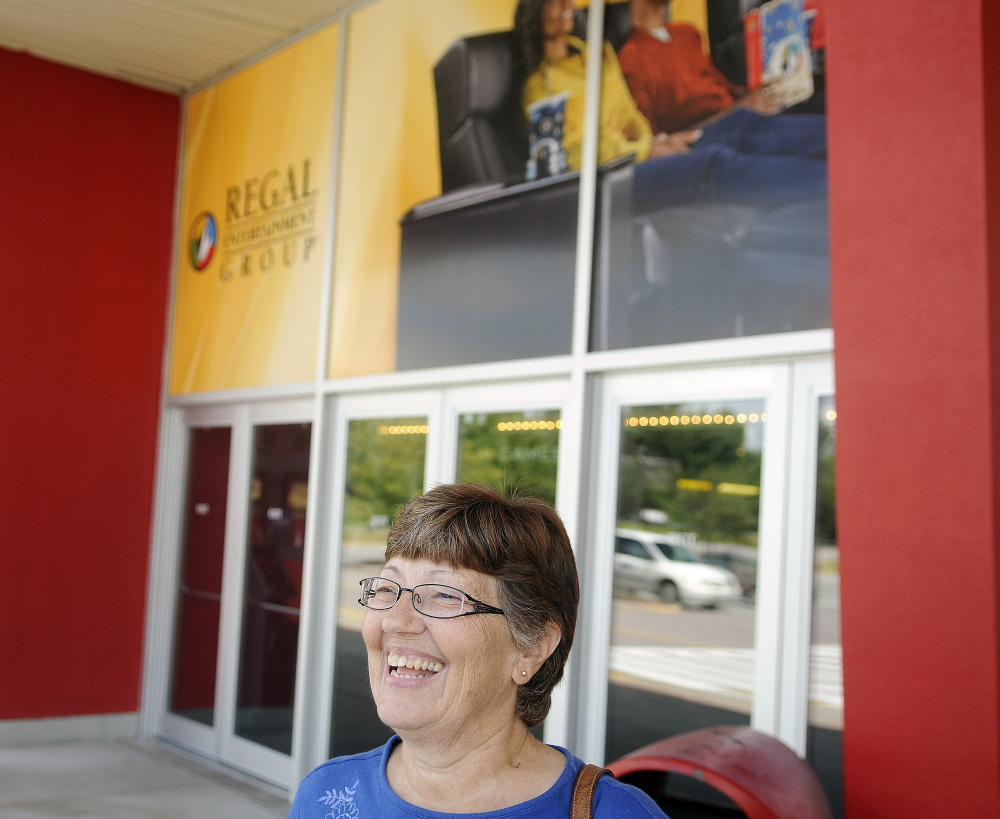 Jackie Nadeau of Augusta said she's glad Regal Cinemas will search the bags of moviegoers.