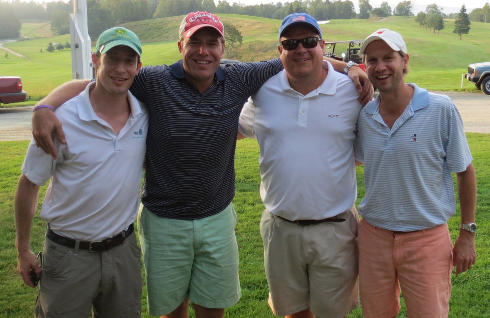 Men's B Division — First place winners, from left, are Peter Morse, Tripp Carter, David Roerig and Tim Leadbetter.