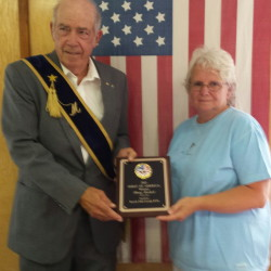 The Spirit of America Award recently was presented to Mary Haskell by Branch Mills Grange 336 Master David Parkman. Haskell was chosen as the recipient of this year's award to honor her countless volunteer activities in the community.