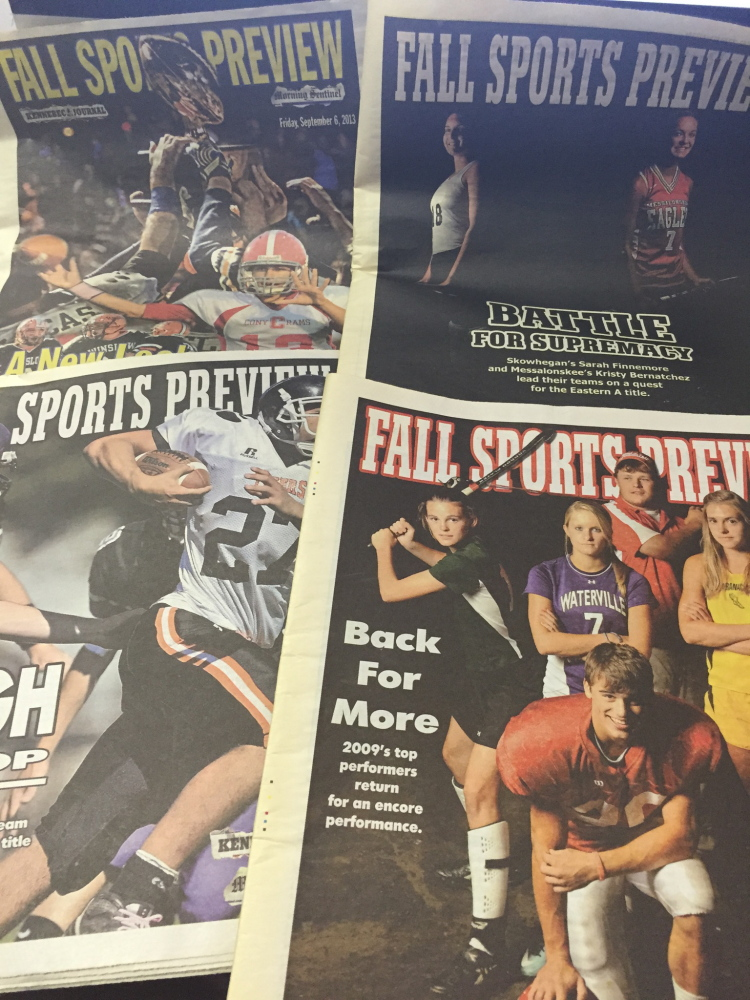 A look at a few of the recent fall sports preview special sections in the Kennebec Journal and Morning Sentinel.