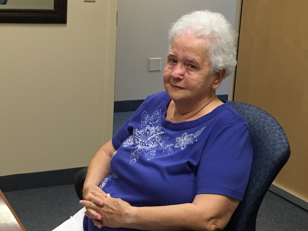 Joyce Morisette, of Waterville, Friday got new hearing aids at the Waterville Beltone Hearing Aid Center, through Beltone's Hearing Care Foundation.