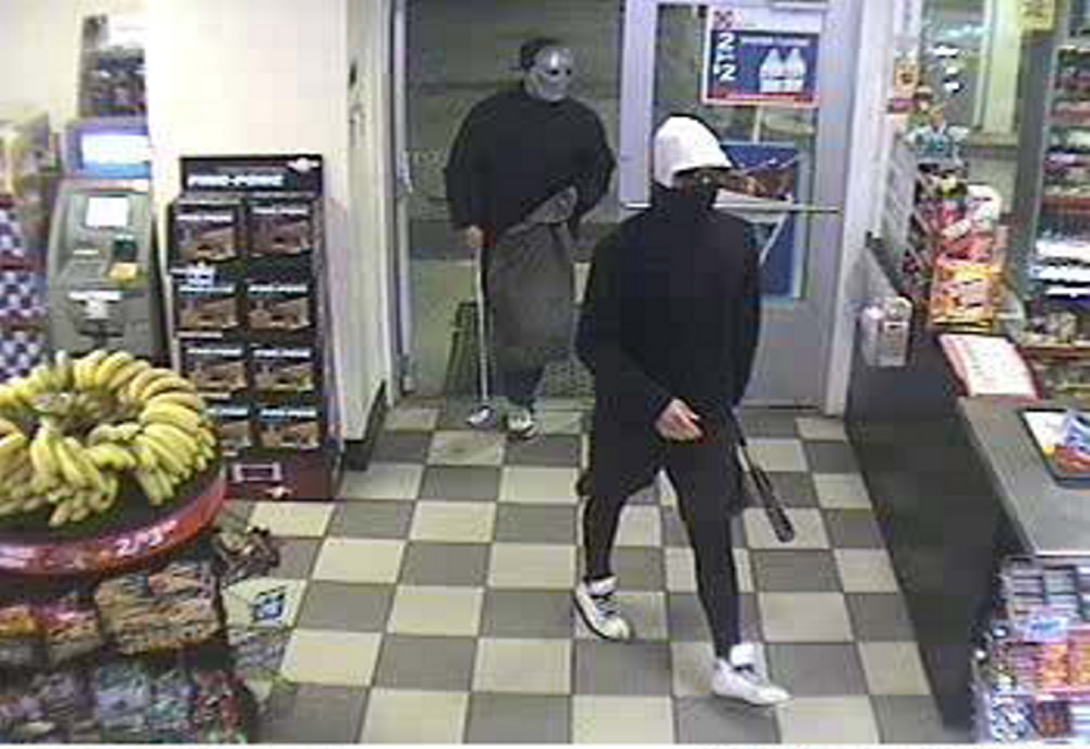 Police are look for two suspects who robbed the Circle K Store on Route 202 in Greene early Sunday morning.